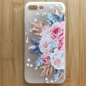 Accessories - NEW Iphone 7/8/7+/8+ Floral Pink Flowers Case
